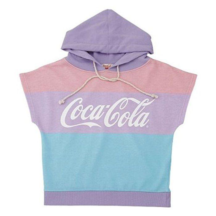 Coca-Cola(コカ・コーラ) レディースノースリーブパーカー パープル