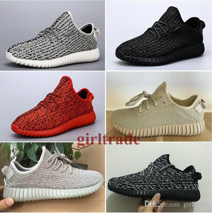 Epacakge Free Drop Shipping Famous 350 Boost Low moonrock black grey Oxford  Tan Women Mens Sports Running Shoes 5-12.5
