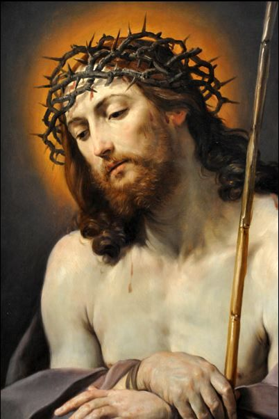 """Christ With Crown of Thorns by Guido Reni, 1636-37 """"I see Jesus in every human being. I say to myself, this is hungry Jesus, I must feed him. This is sick Jesus. This one has leprosy or gangrene; I must wash him and tend to him. I serve becuase I love Jesus."""" -- Mother Teresa"""