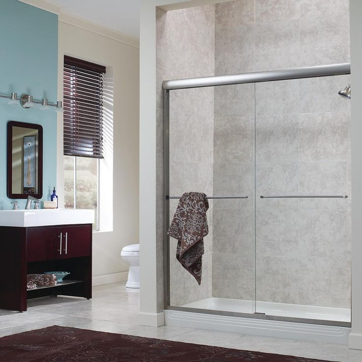 Foremost Marina 60 in. W x 72 in. H Frameless Sliding Shower Door in Oil Rubbed Bronze