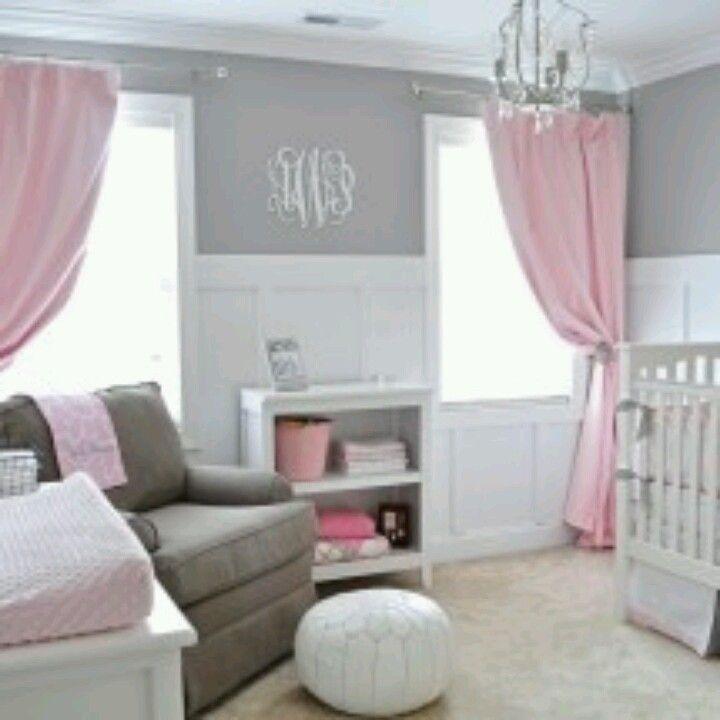 Best Baby Girl Nursery Images On Pinterest - Light pink nursery decor