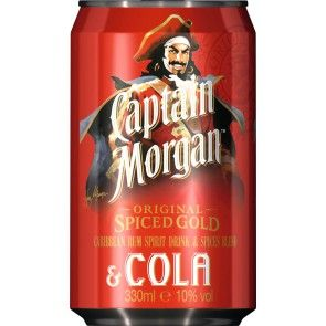 Captain Morgan spiced gold & Cola 0,33 Liter Dose