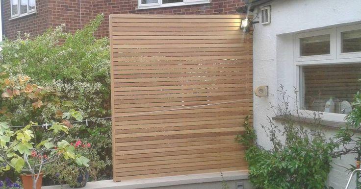 Hardwood slatted panel