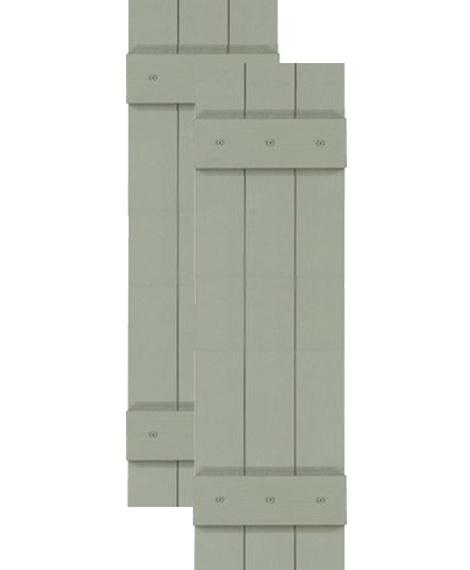 Exterior Solutions - Custom Closed Board & Batten Vinyl Shutters w/ Common Style $49.14