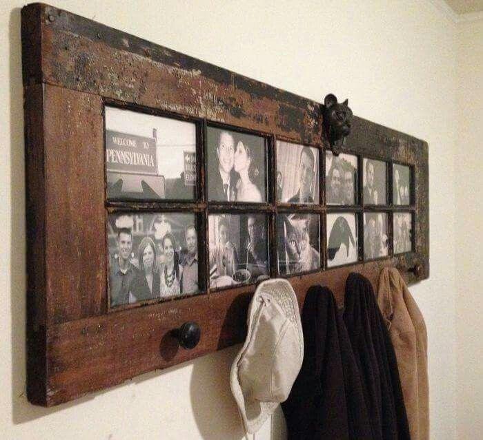 Door converted to photo display