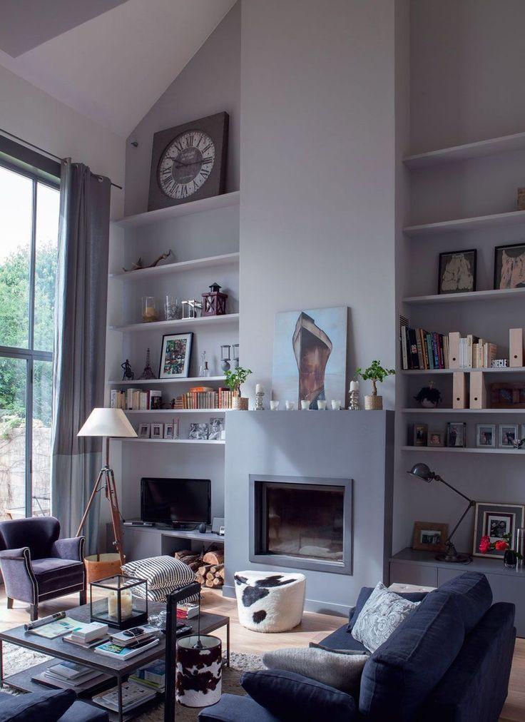 17 meilleures id es propos de mur avec po le bois sur pinterest po les bois coin. Black Bedroom Furniture Sets. Home Design Ideas