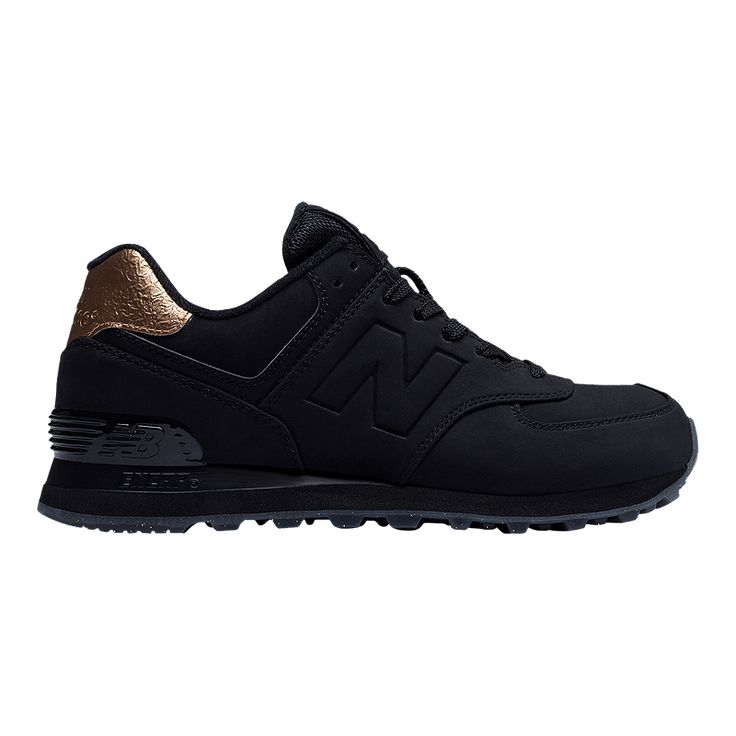 With their comfortable cushioning and go-with-everything style, the New Balance Women's ML574 (Metal) Shoes - Black are destined to become the sneakers you reach for when you're ready to go out or work out. Mesh inserts in the luxurious suede uppers give these kicks a breathable fit, and the shoes are ultra durable to hold up to frequent wear.