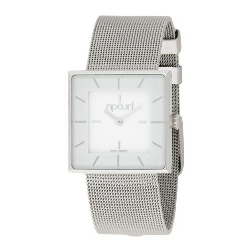 Rip Curl Women's A2384G-WHI Catalina Stainless Steel White Watch Rip Curl. $120.00. Water-resistant to 330 feet (100 M). Printed crystal adds depth and detail. 316L stainless steel case and band: the highest grade of stainless steel for water resistance, strength and non-corrosion in a marine environment. Case diameter: 28 mm. Every Rip Curl watch is individually tested for water resistance