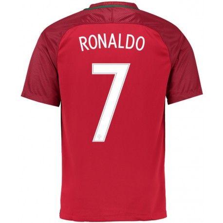 Maillot Portugal RONALDO  2016/2017  Officiel EURO 2016 Domicile. Flocages Personnalisés Disponibles.