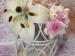 Лепка лилии из холодного фарфора - Ярмарка Мастеров - ручная работа, handmade