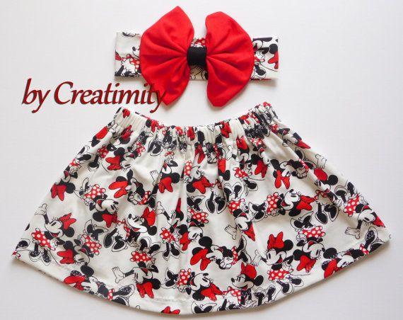 Minnie baby girl skirtMinnie girl skirtbaby by CreatimityCasual