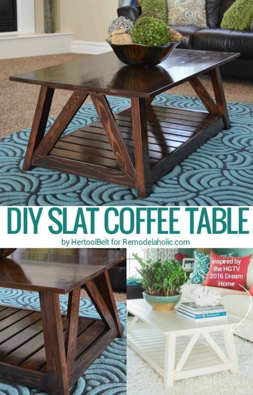 Build this DIY slat coffee table this weekend, inspired by the Ethan Allen  version found
