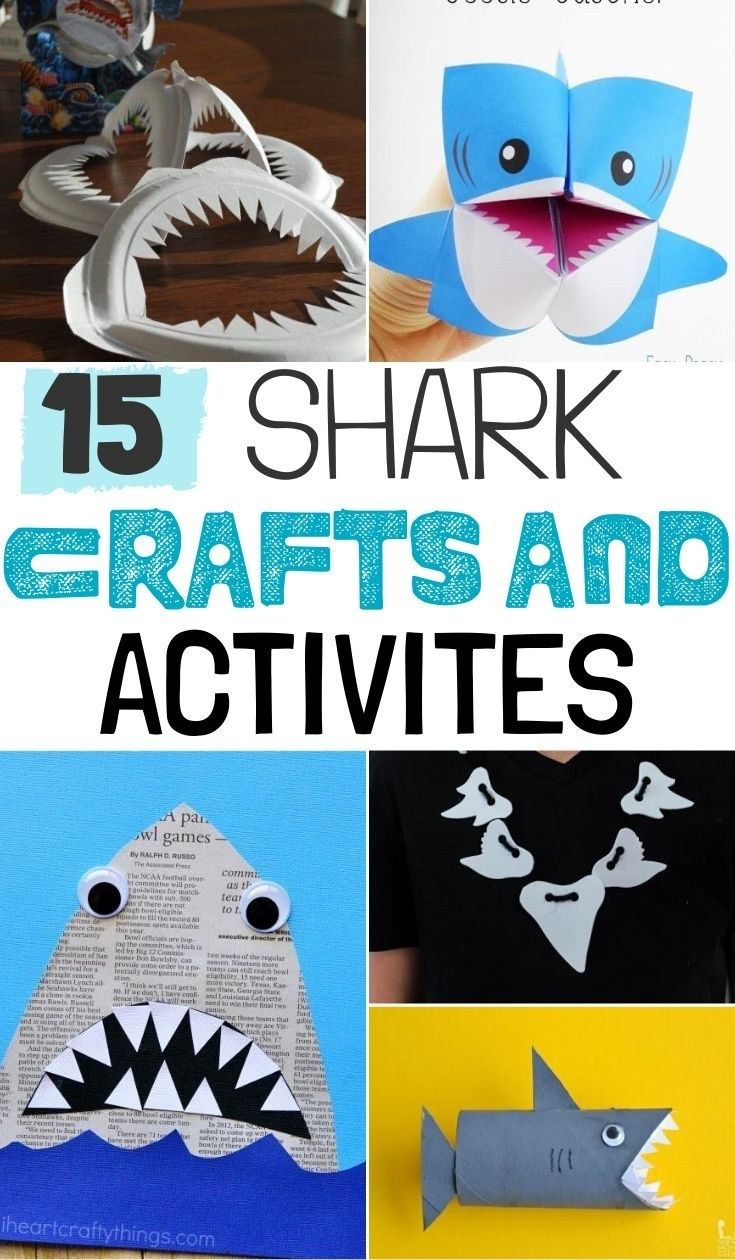 June Pinterest Roundup: Summer Salads, Father's Day, and Beach Crafts in  2020 | Shark craft, Ocean crafts, Craft activities for kids