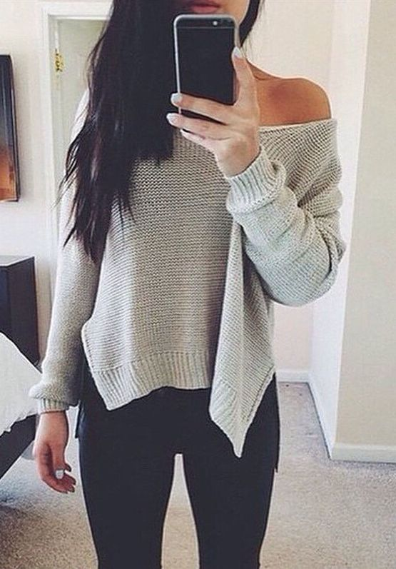 loose fitting cable knit sweater outfit