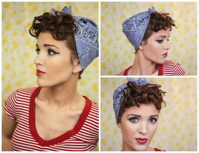 Brilliant Diy Rosie The Riveter Hairstyle 20035 Pin Up Hair Style Short Hairstyles For Black Women Fulllsitofus