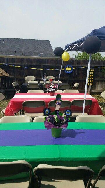My Batman Theme Party Centerpieces Diy Birthday Decor