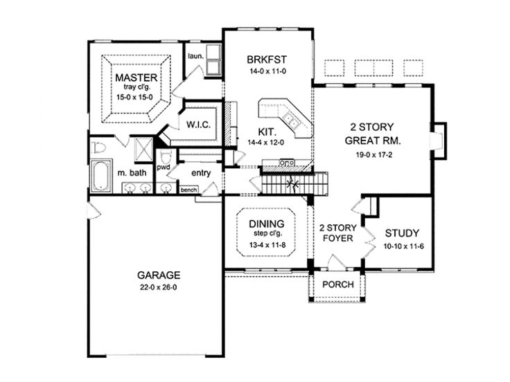 Eplans Colonial House Plan Two Story Great Room 2256