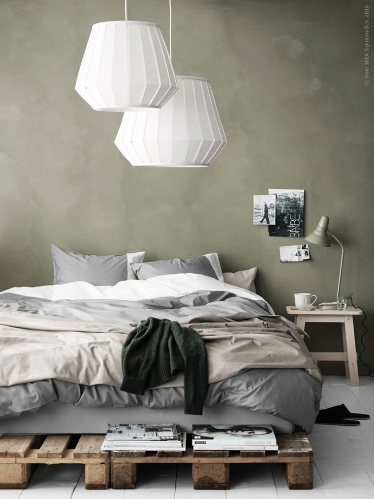 Nice budget lamps | The big white Lakheden lampshades from IKEA are nice budget findings for the bedroom | Pella Hedeby