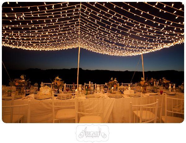 fairy lights wedding reception
