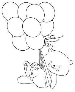 chameleon pens coloring pages | Chameleon Pens | APRdownload of Floating Kitty to Color ...