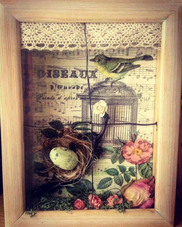 "Polubienia: 17, komentarze: 1 – Anna Sokola (@decor_manufacturing_) na Instagramie: ""#decor #mixedmediacanvas #handmade #spring  #decoupage #decoration #woodworking  #dekoracje…"""
