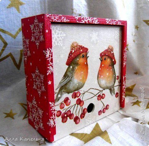 Сотворила в июне такое вот зимне-новогоднее чудо 2 в 1. Это и кубики для игры / интерьерные кубики и шкатулка для конфет.  фото 1