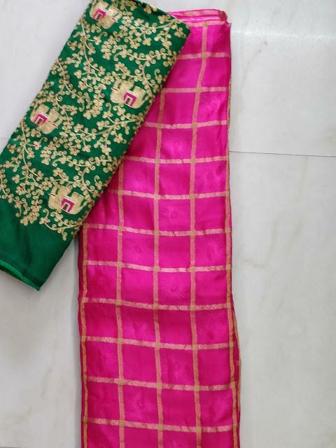 jute georget with designer blouse | Buy online Georgtte sarees | Elegant Fashion Wear
