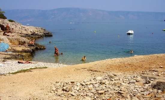 Nudist Camp Beach Vrboska, The Island of Hvar, Croatia