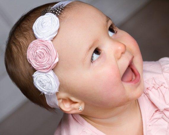 Love this one too!    Rose Flower Headband Newborn Headband Baby by LittleLovesDesigns, $15.95