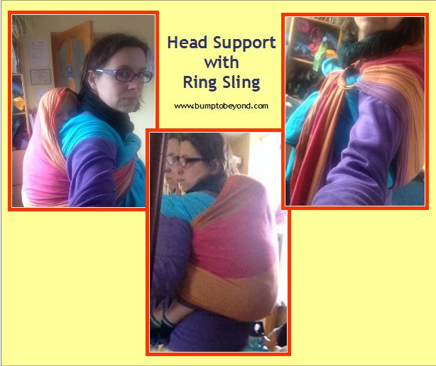 Using a Ring sling or scarf for head support in a back carry