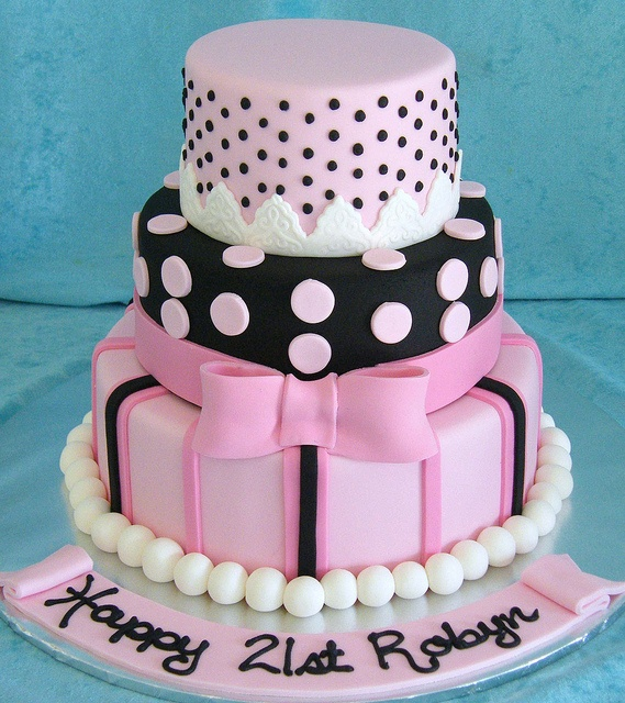 Pretty Birthday Cake... Great design for a first birthday, 21st or 50th