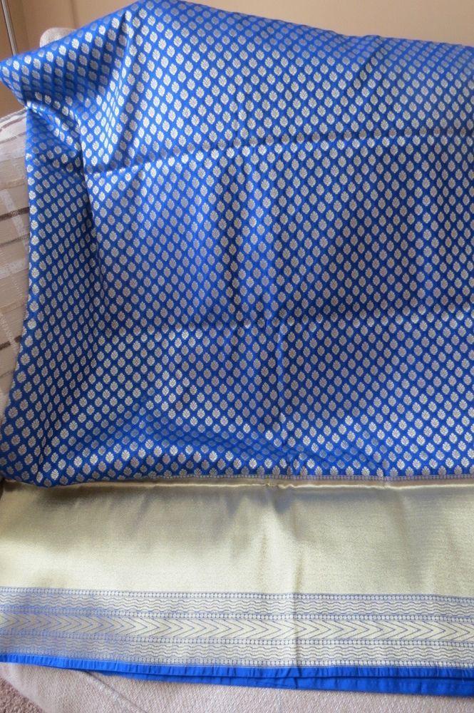 Navy Blue Opar SILK Saree, Sari, Banais silk #Unbranded #Sareesari