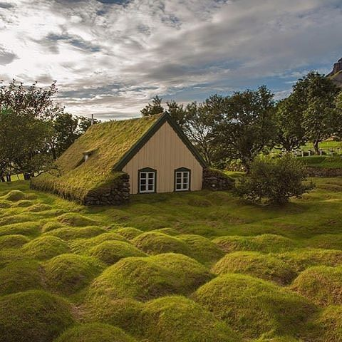 The old peat church at Hof, Iceland Photo by: @menno_schaefer✌️️