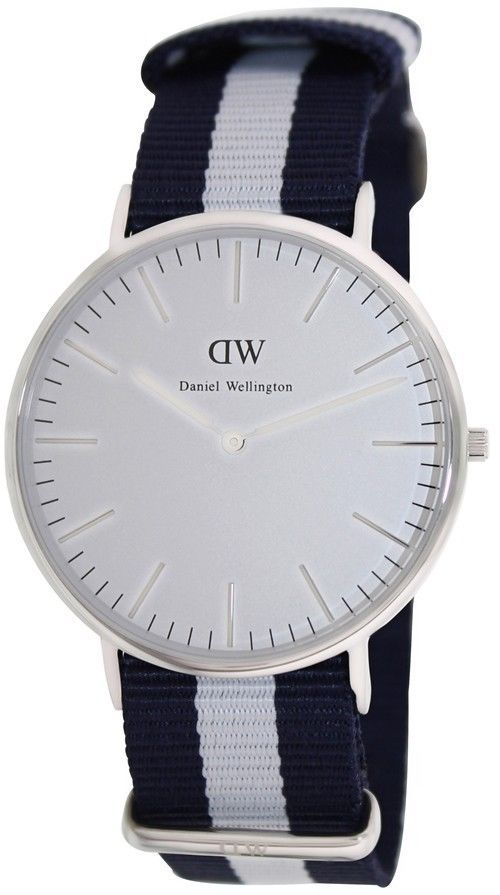 Daniel Wellington Men's Classic Glasgow 0204DW Multicolor Cloth Quartz Watch #DanielWellington #FashionWatches