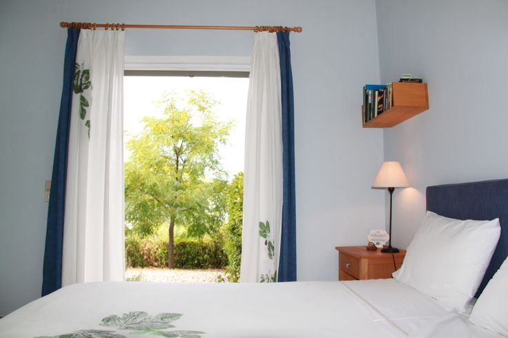 """The blue ground floor room with the name """"Myrtia""""=myrtle #hotel_room #decoration #simplicity"""
