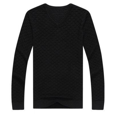 Type:+Pullovers+ Material:+Cotton+ Sleeve+Length:+Full+ Collar:+V-Neck+ Technics:+Computer+Knitted+ Style:+Fashion+ Weight:+0.430KG+ Package+Contents:+1+x+Knitwear  SizeBustLengthShoulder+WidthSleeve+Length M88624160 L92644261 XL98664362 2XL102684463