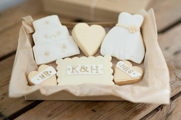 personalised bride and groom wedding cookies by nila holden | notonthehighstreet.com