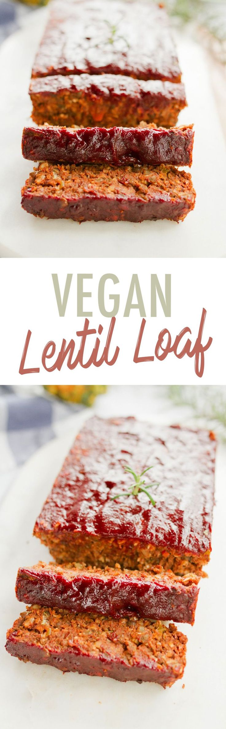 This delicious LENTIL LOAF is the perfect vegetarian main for the holidays!