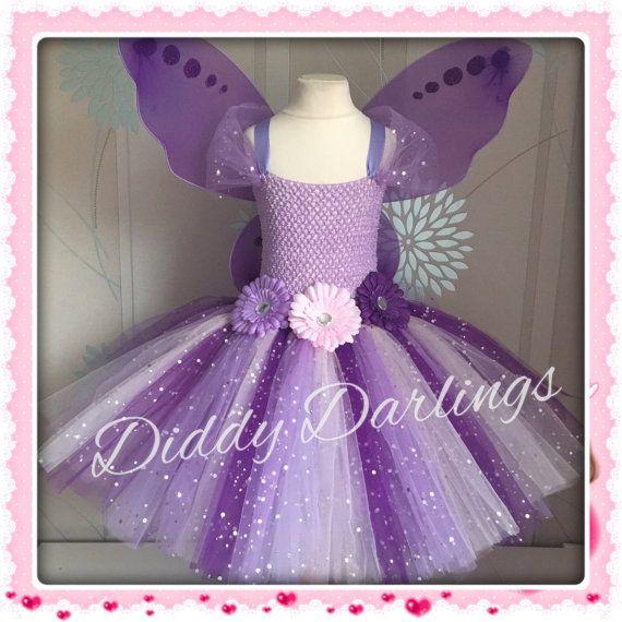 Sparkly Purple Tutu Dress. Fairy Tutu Dress Vidia From Tinker