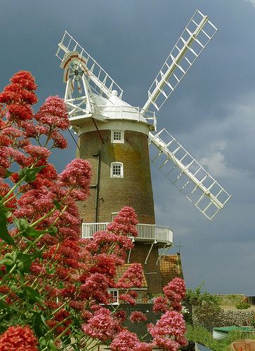 This windmill is not located in Holland/The Netherlands. It is in Cley next the Sea, Norfolk, England.