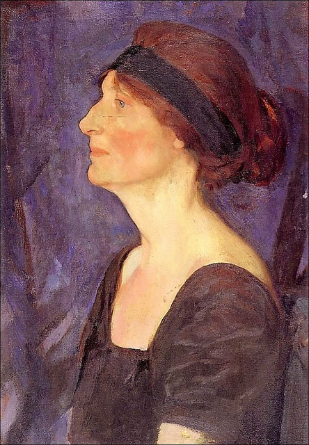 Portrait of Alice Massey by Fred Varley 1888-1969.  Fred was born in Sheffield and was a member of the Heeley Art Club. He emigrated to Ontario with his family and became  a WW1 War Artist.   He was a member of Canadas Famous Group of seven  he died in Unionville there is a great Art Gallery there in his name.  I helped connect Unionvilles Varley Art Trustees with the Heeley Art Club,
