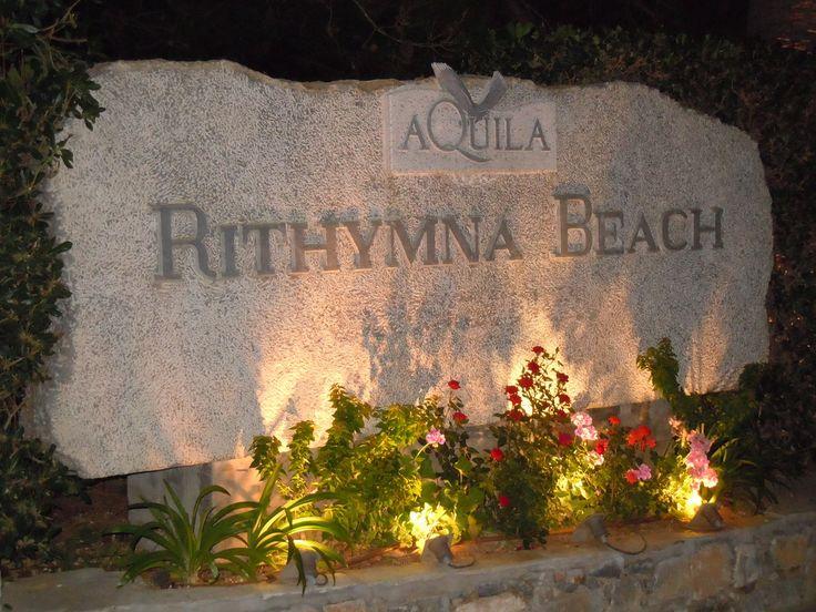 Aquila Rithymna Beach  Entrance