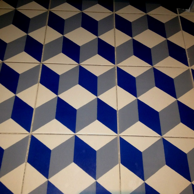 Blue White And Gray Cube Tiles Moroccan Tiles Mc Esher