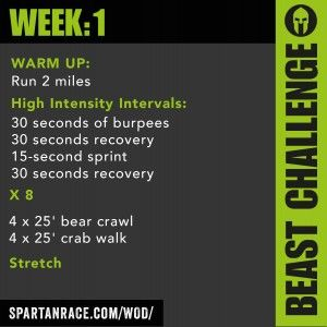 Spartan WOD Challenge: Week 1 - Beast Mode 1.1 - SPARTAN RACE™ Blog