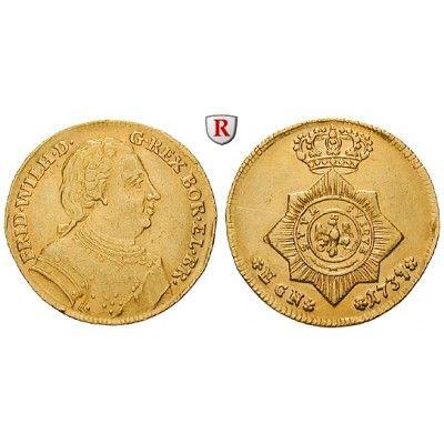 Brandenburg-Preussen, Königreich Preussen, Friedrich Wilhelm I., Dukat 1737, ss-vz: Friedrich Wilhelm I. 1713-1740. Dukat 1737… #coins