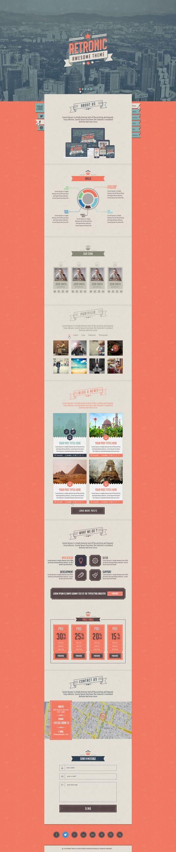 Retronic PSD Template by Abdullah Barakat, via Behance