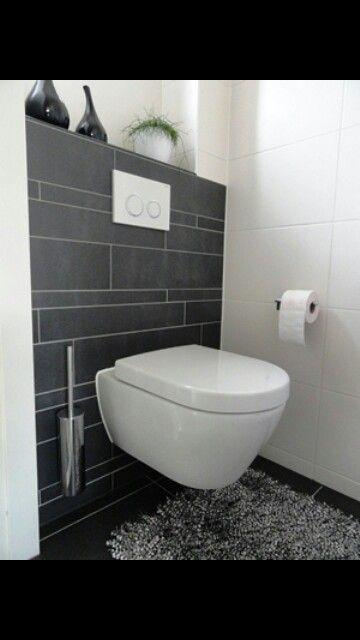 Wc wit grijs nieuw huis pinterest - Wc zwart wit ...