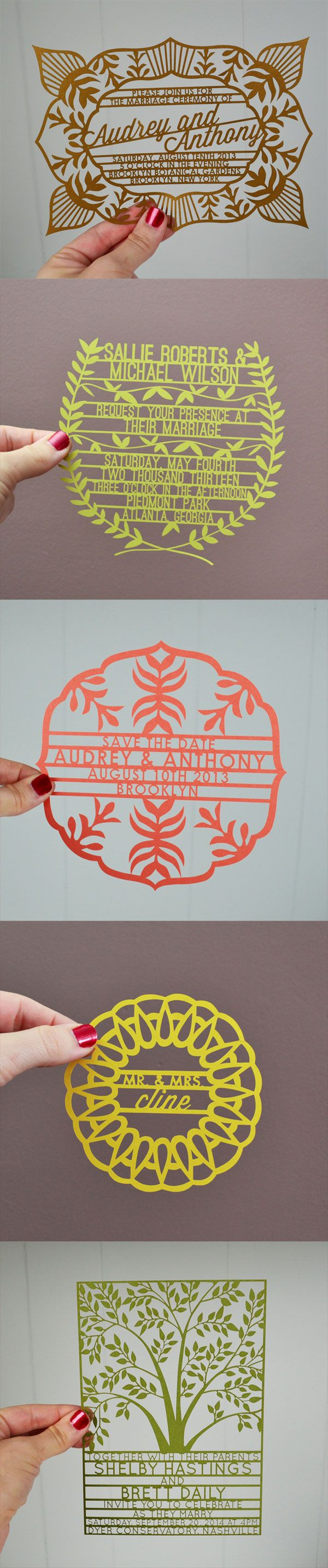Lovely laser cut wedding stationery : Avie Designs - Belle Amour