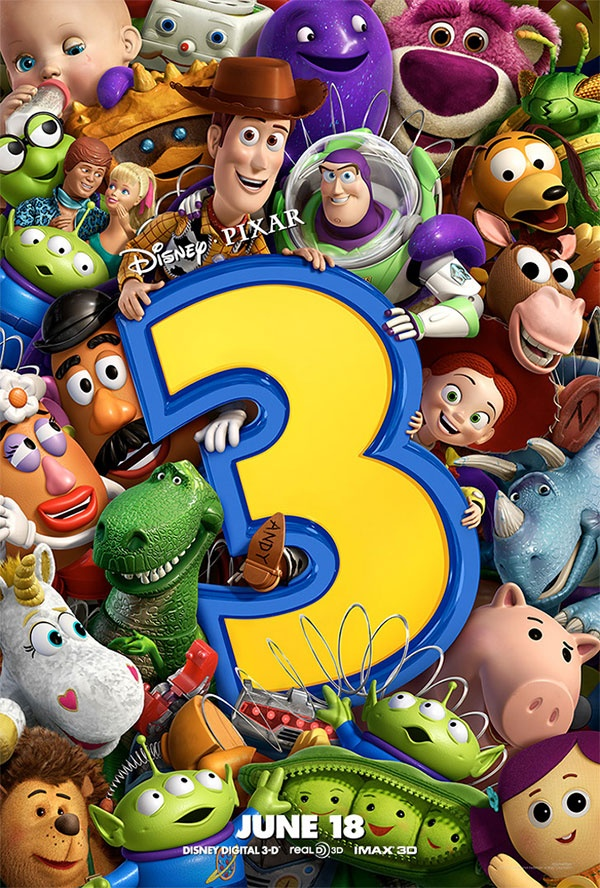 Toy Story 3 - (2010)  Director: Lee Unkrich  Stars: Tom Hanks, Tim Allen, Joan Cusack.   The toys are mistakenly delivered to a day-care center instead of the attic right before Andy leaves for college, and it's up to Woody to convince the other toys that they weren't abandoned and to return home.