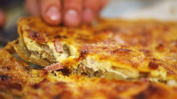 Eén - Dagelijkse kost - quiche met witloof, ham en cheddar